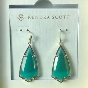 NWT Kendra Scott Carla Emerald Earrings